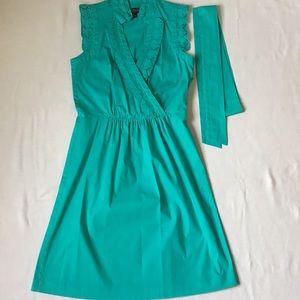 Jessica Howard Sleeveless Cotton Teal Dress